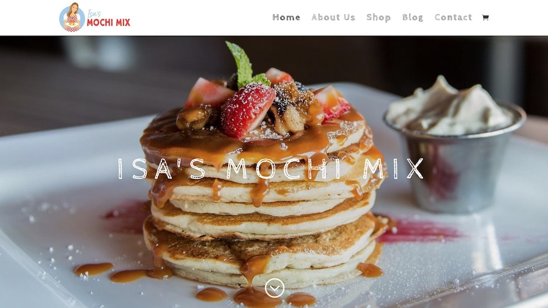 Isa's Mochi Mix Website - Web Creation Studios Portfolio