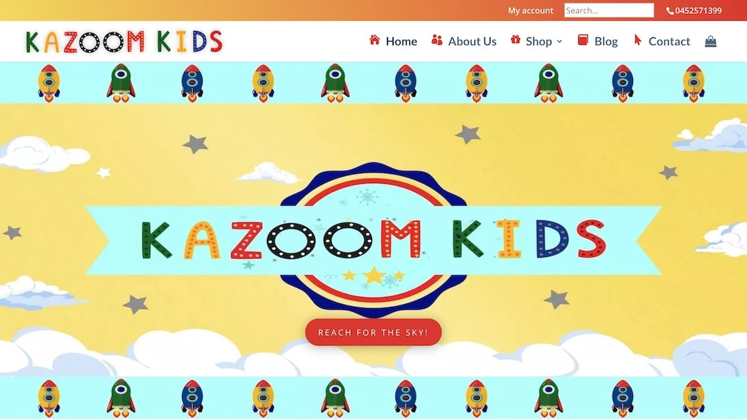 Kazoom Kids - Web Creation Studios Portfolio