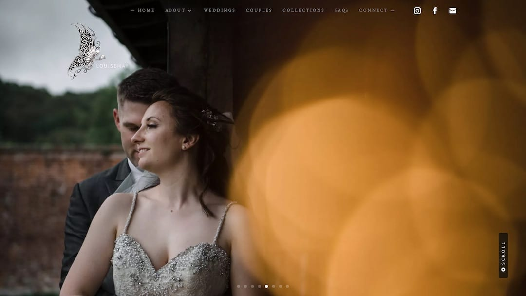 Louise May Photography Website - Web Creation Studios Portfolio