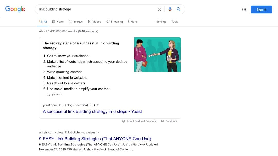 Link Building Strategy - Google Search