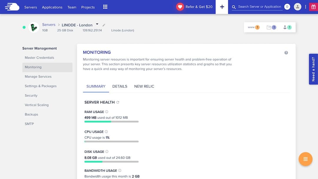Check Hosting Resource Usage