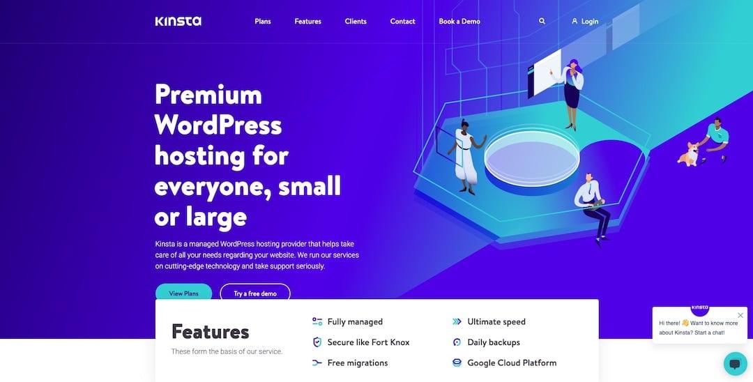 Fully Managed WordPress Hosting - Kinsta