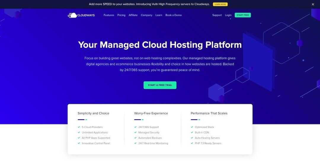 Managed WordPress Hosting - Cloudways