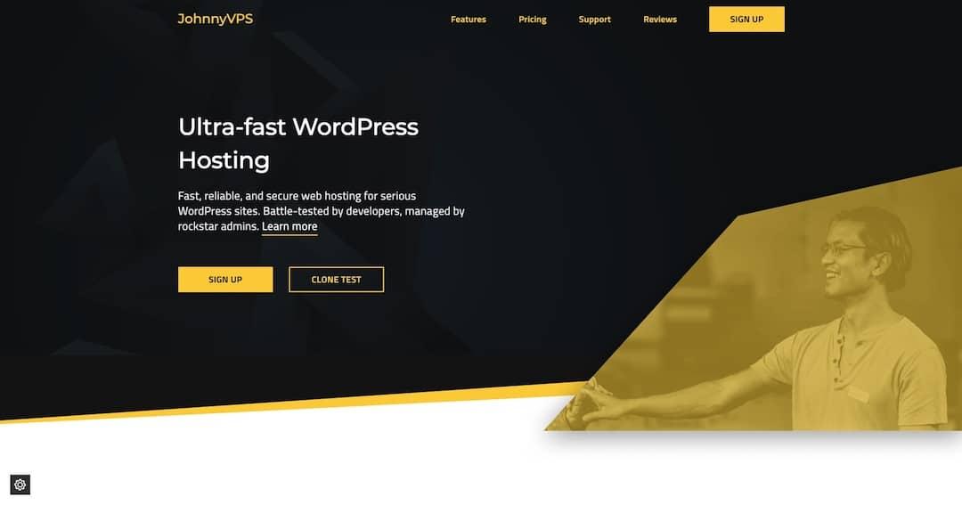 Ultra Fast WordPress Hosting - JohnnyVPS