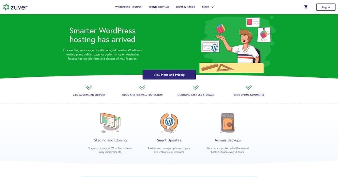 Zuver Smarter WordPress Hosting