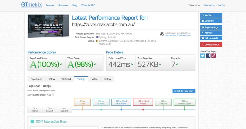 Zuver Speed Test - Clone of Max Jacobs - 442ms