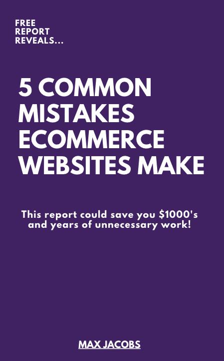5 Common Mistakes eCommerce Websites Make
