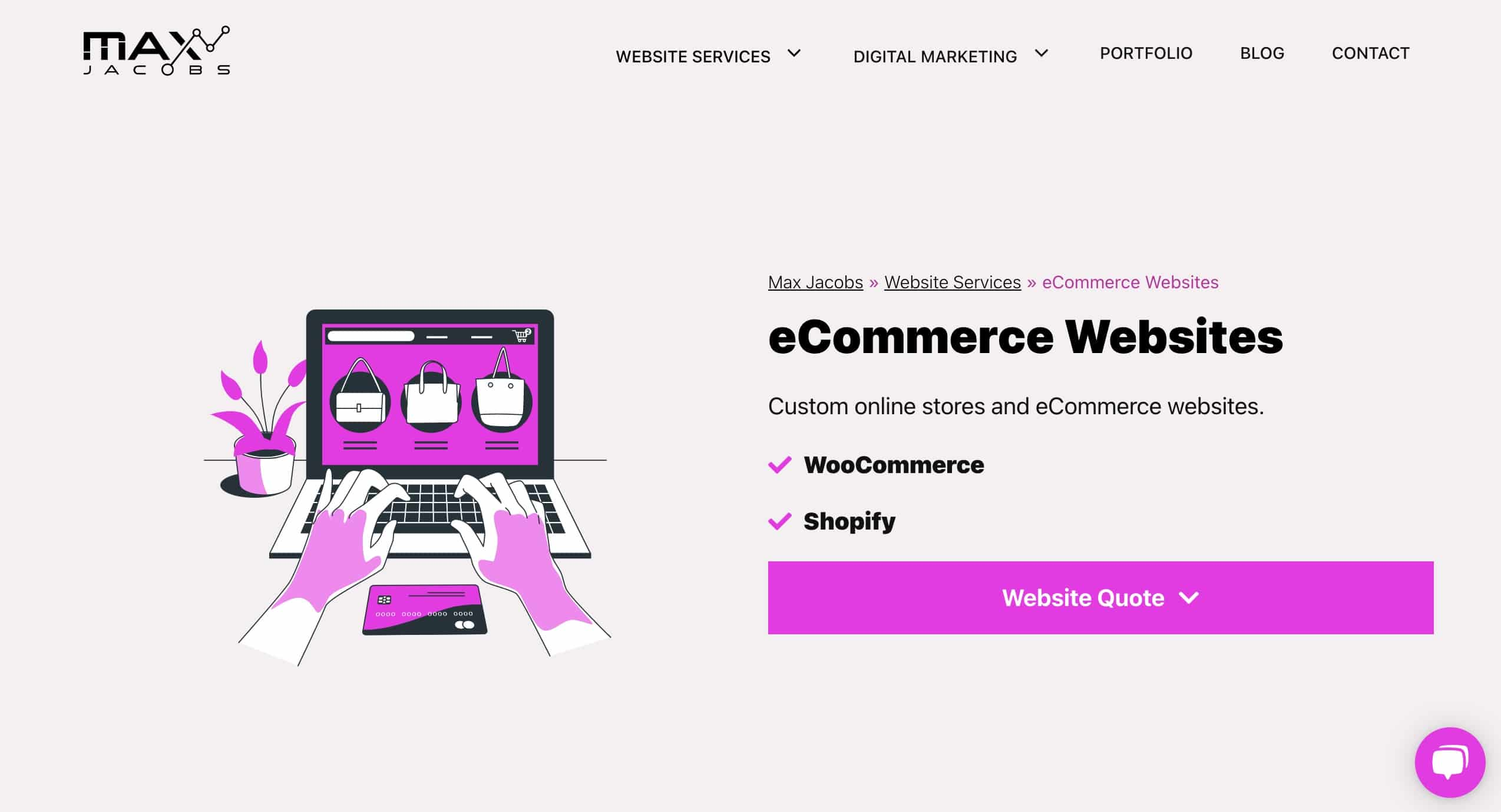 Custom eCommerce Websites
