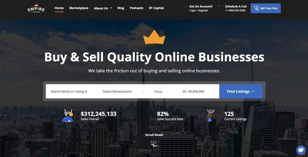 Buy an online business through Empire Flippers
