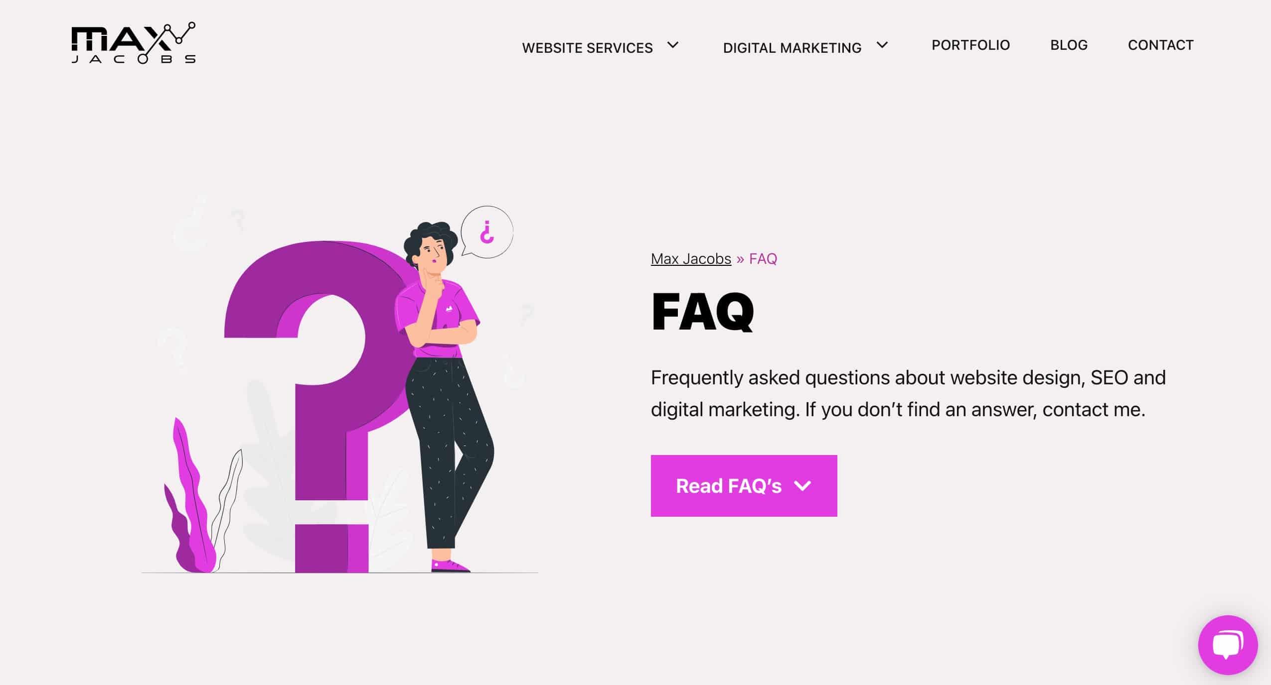 Website and marketing FAQ's