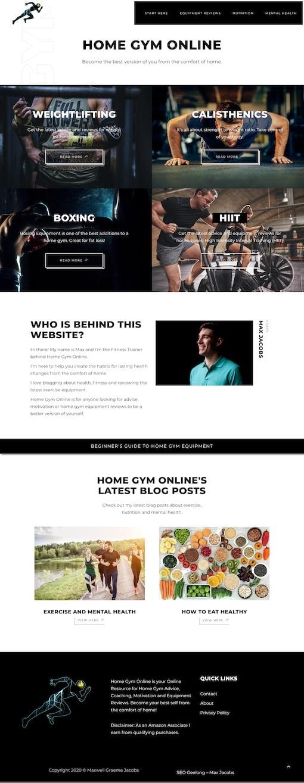 Max Jacobs Portfolio - Home Gym Online
