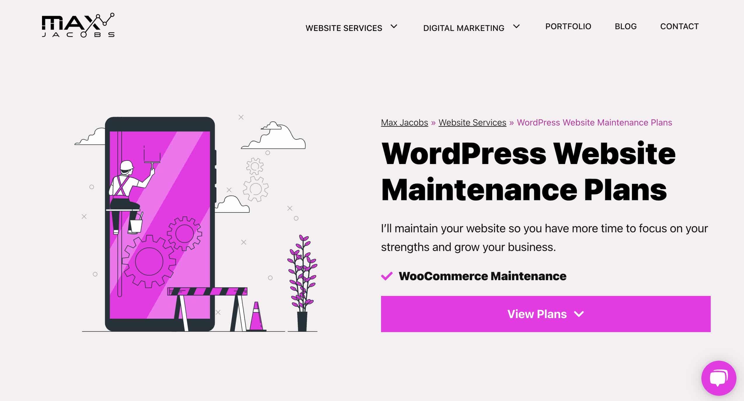 WordPress Website Maintenance Plans - Max Jacobs