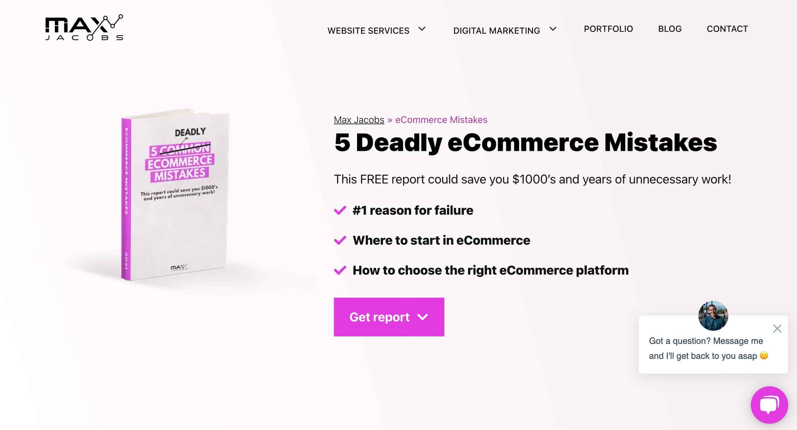 eCommerce Mistakes Report