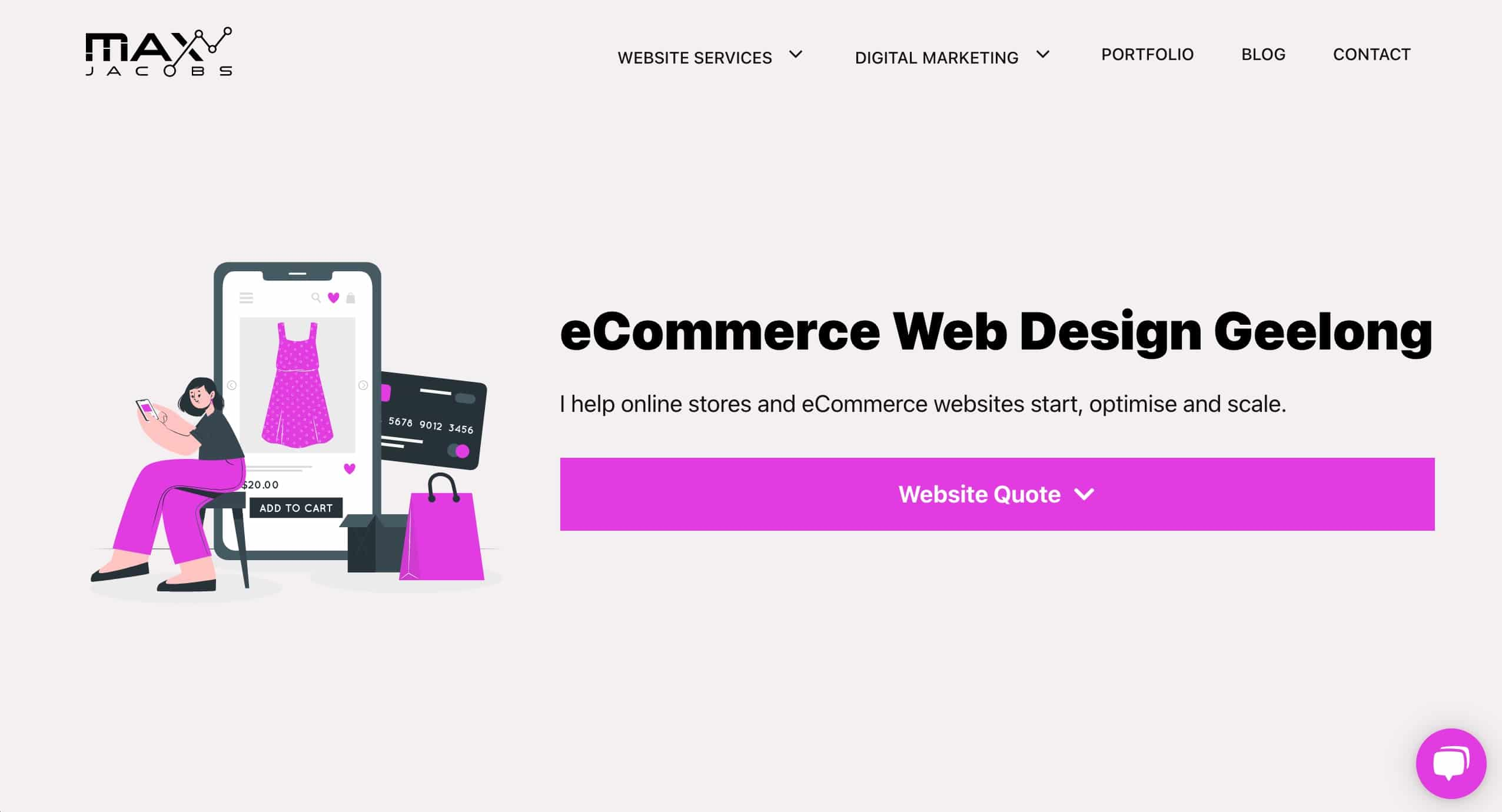 eCommerce Web Design Geelong