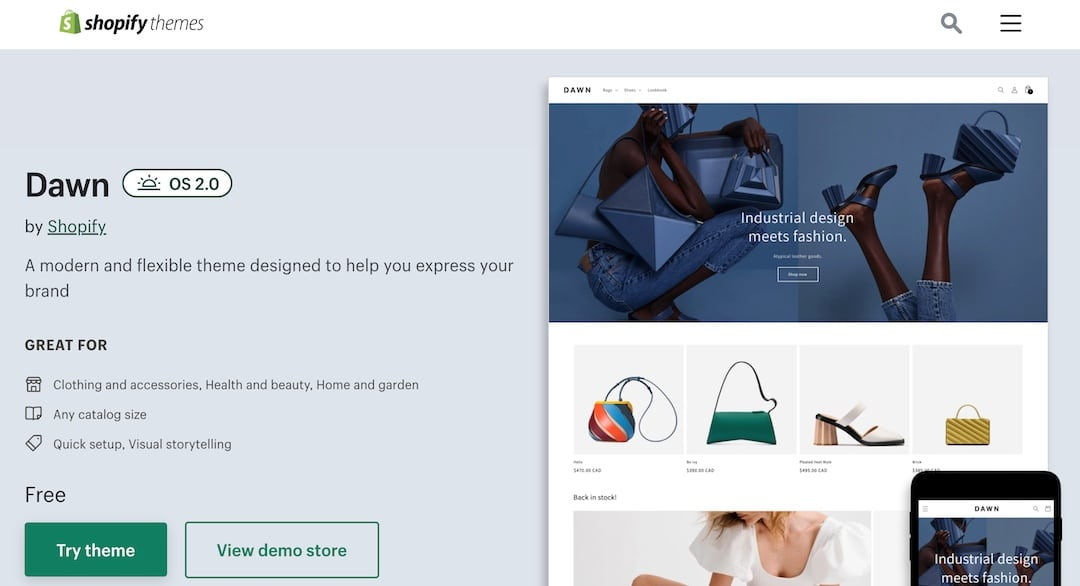 Dawn is the fastest Shopify theme