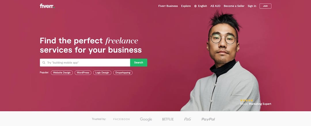 Finding graphic designers on a budget through Fiverr