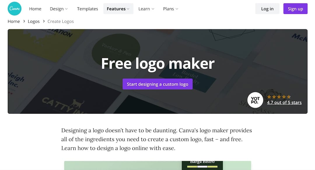 Free logo maker from Canva