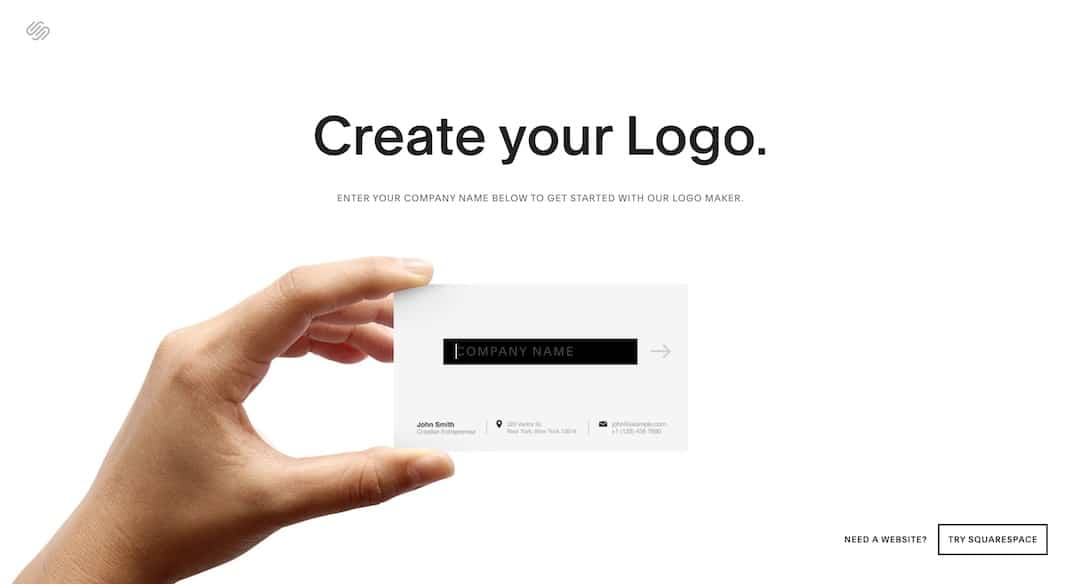 Free logo maker from Squarespace