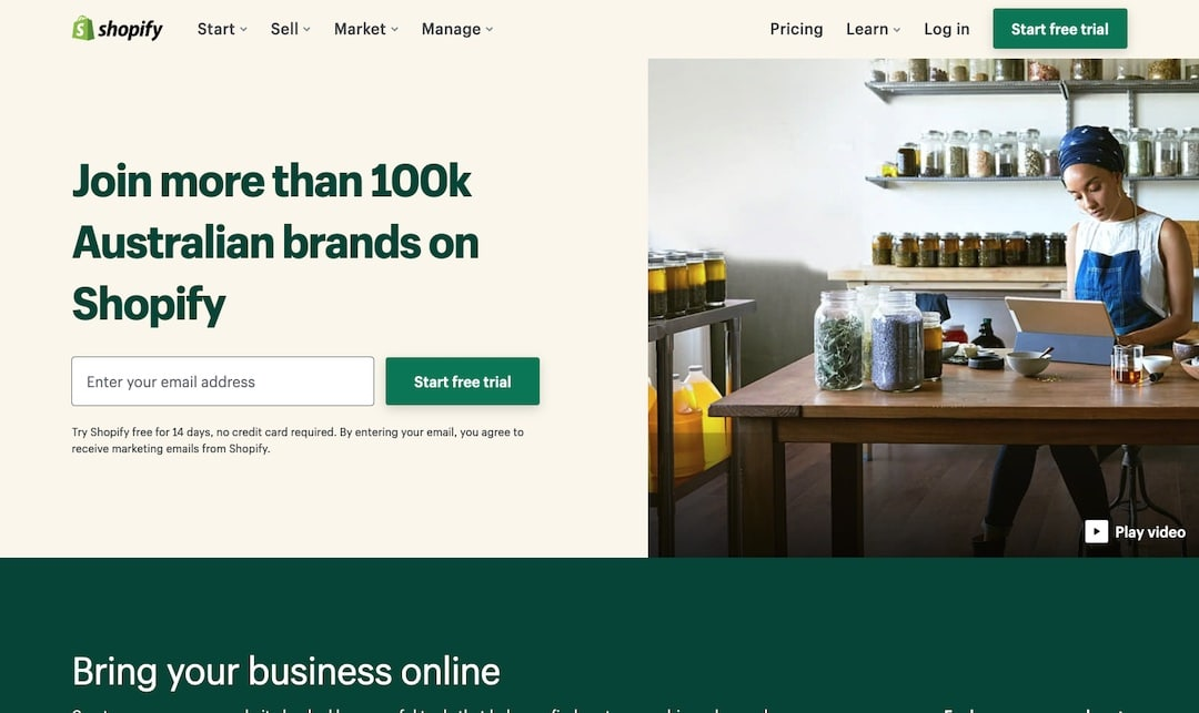 Start an online store without inventory using Shopify