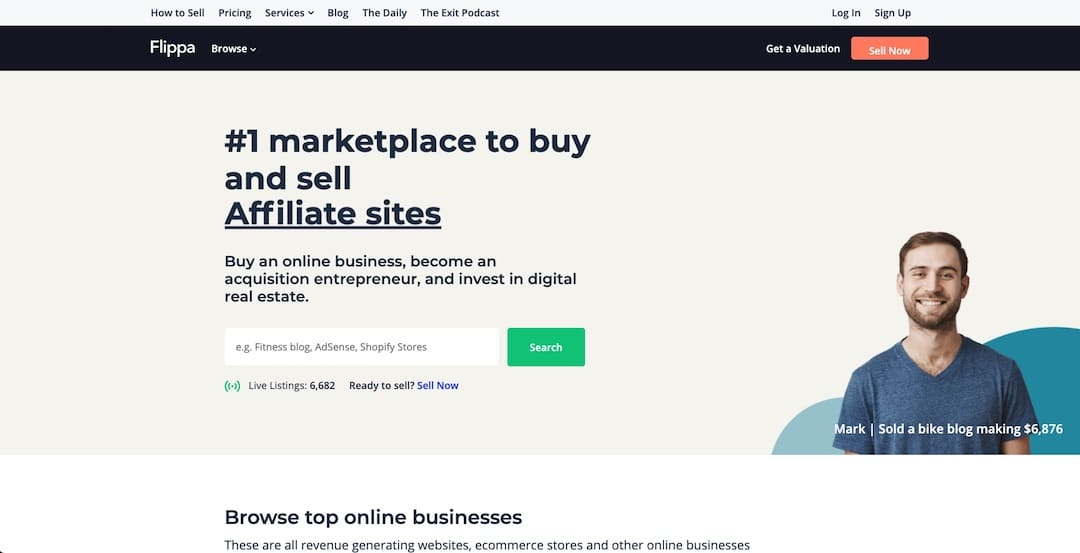 Using Flippa to find product ideas